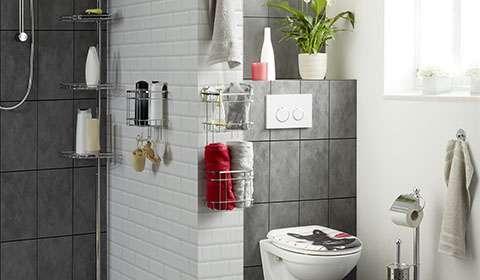 Praktische Duschablagen aus Edelstahl günstig bei mömax bestellen.