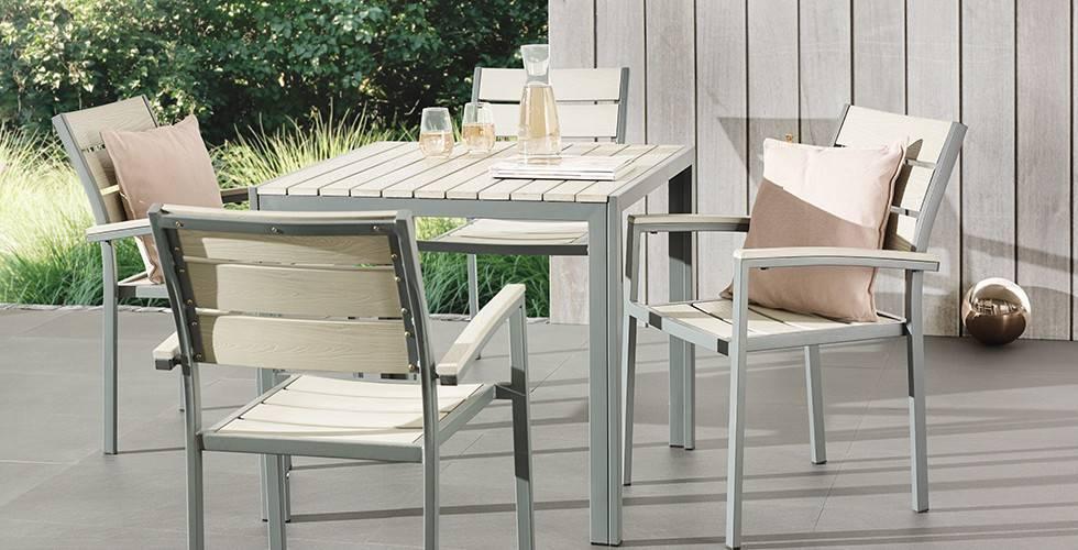 5-teilige Gartentischgruppe aus Polywood in Grau von mömax.