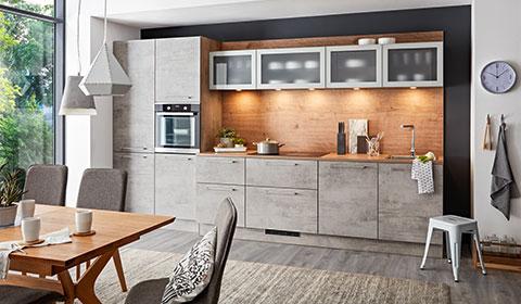 Günstiger Küchenblock in Hellgrau von mömax – stylisch und schick für Ihr Zuhause.