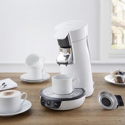 Kaffeepadmaschine Senseo Viva Cafe - Weiß, MODERN, Kunststoff/Metall - PHILIPS