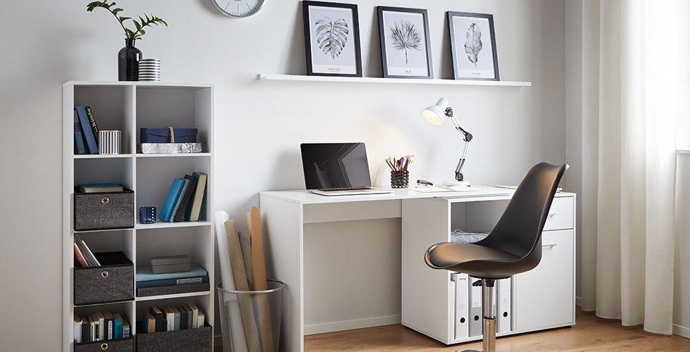 Höhenverstellbare Schreibtischlampe im Edelstahl-Look günstig bestellen bei mömax.