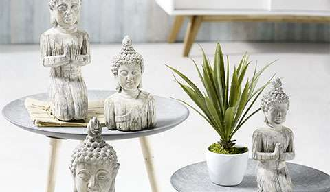Buddhakopf aus Kunststein für stimmungsvollen Asia-Chic günstig kaufen bei mömax.