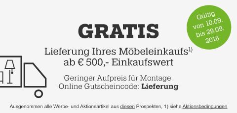 Gratis Lieferung ab 500€ bei mömax!