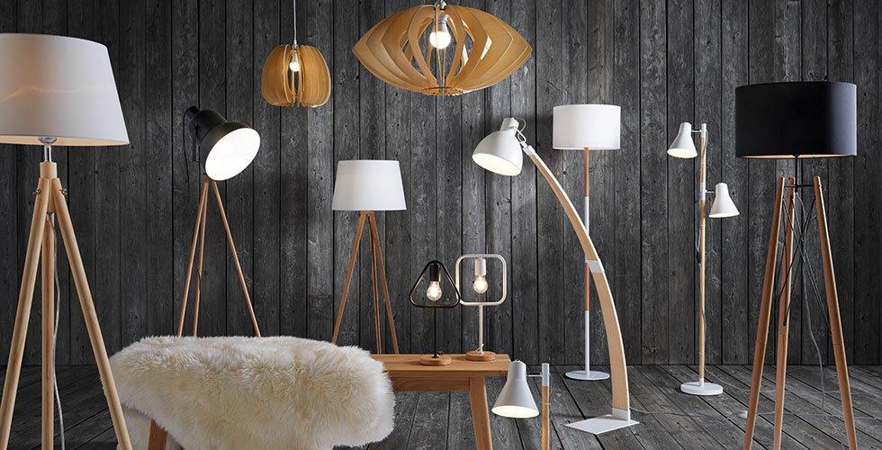 Große Auswahl an Stehleuchten mit Holzelementen, günstig kaufen bei mömax.