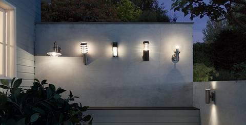 Moderne Außenleuchten in verschiedenen Varianten bei mömax.