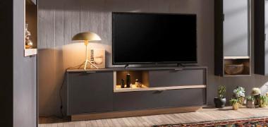 Wohnwand echtholz dunkel  Wohnwände & TV- Möbel jetzt entdecken | mömax