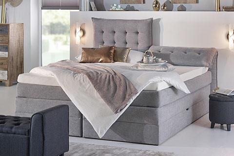 Schlafzimmer Betten Features Boxspringbett verstellbares Kopfteil moemax