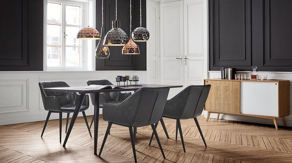 Esstisch-Esszimmermöbel-Speisezimmer-Stuhl-Leder-Lederlook-moemax