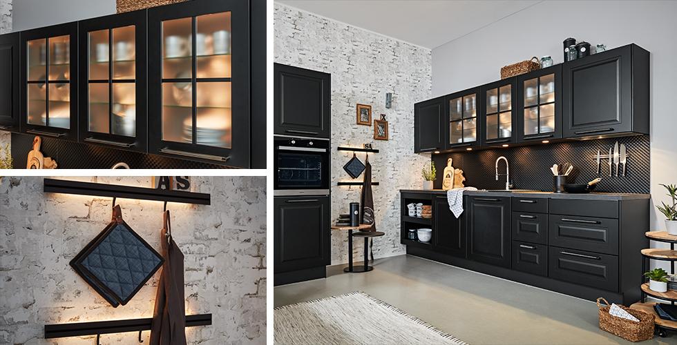 Alles im Blick dank der praktischen Küchenbeleuchtung von mömax.
