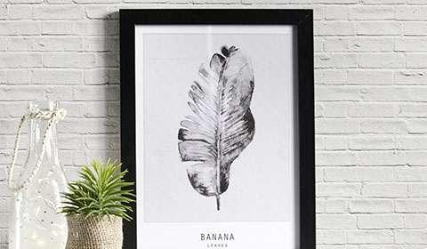 Trendiges Bild mit Bananenblatt-Motiv von mömax.