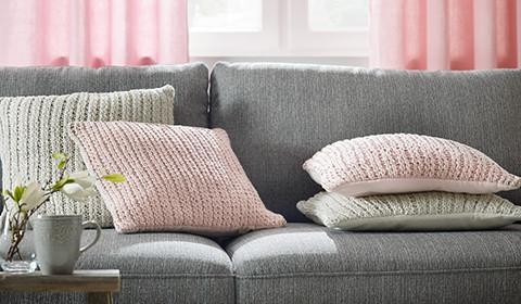 Zierkissen-Rosa-Natur-Couch-WohnzimmerNeu