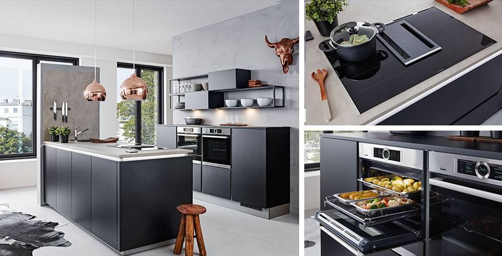 küche-schwarz-feel-kochfeld-dunstabzug backofen 3er-Combi Vorlage momax