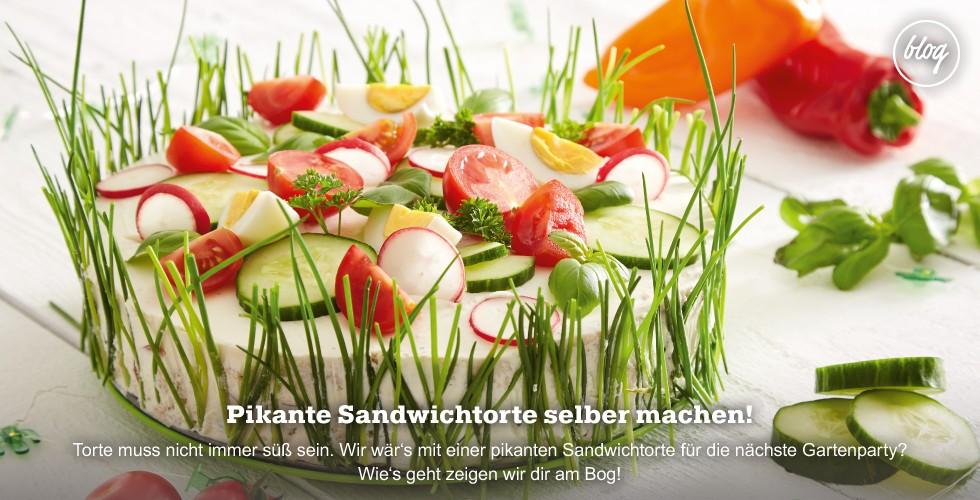 Eine leckere herzhafte Torte zur Gartenparty - Wie's gelingt lesen Sie am Blog!