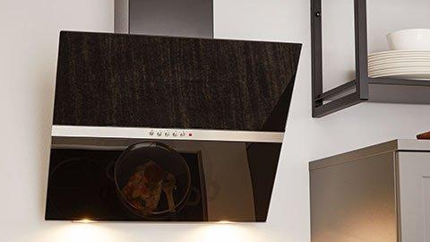 Dunstabzugshaube, schwarz, Glas, modern, günstig kaufen bei mömax.