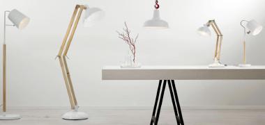 Decken-, Tisch- und Stehleuchten in weiß