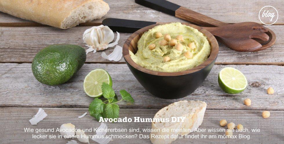 Leckeres Avocado Hummus selber machen - Rezept gibt's am Blog!