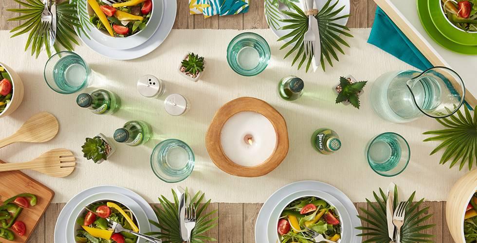 Frühlingshaft frisches Geschirr in Grün von mömax.