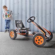 Spielzeug Kettcar in schwarz und orange