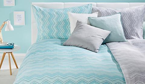 Bettwäsche mit Muster und in verschiedenen Farben von mömax.