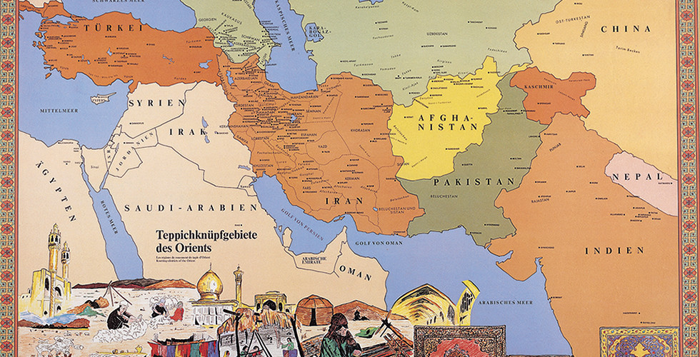 Landkarte orientalische Länder