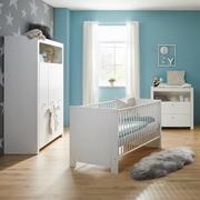Babyzimmerset, Gitterbett, Wickeltisch und Schrank in einem Zimmer