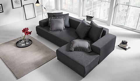 Wohnzimmer couch schwarz  Sofas & Couches jetzt entdecken   mömax