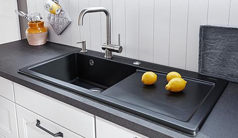 Küchenspüle-schwarz-Küche-York