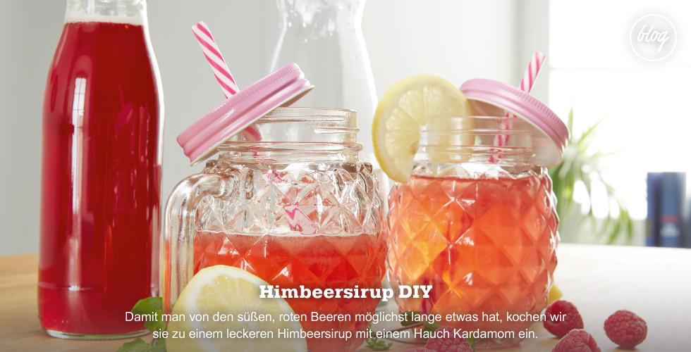 Himbeer-Sirup einfach selbstgemacht - Jetzt Rezept anschauen!