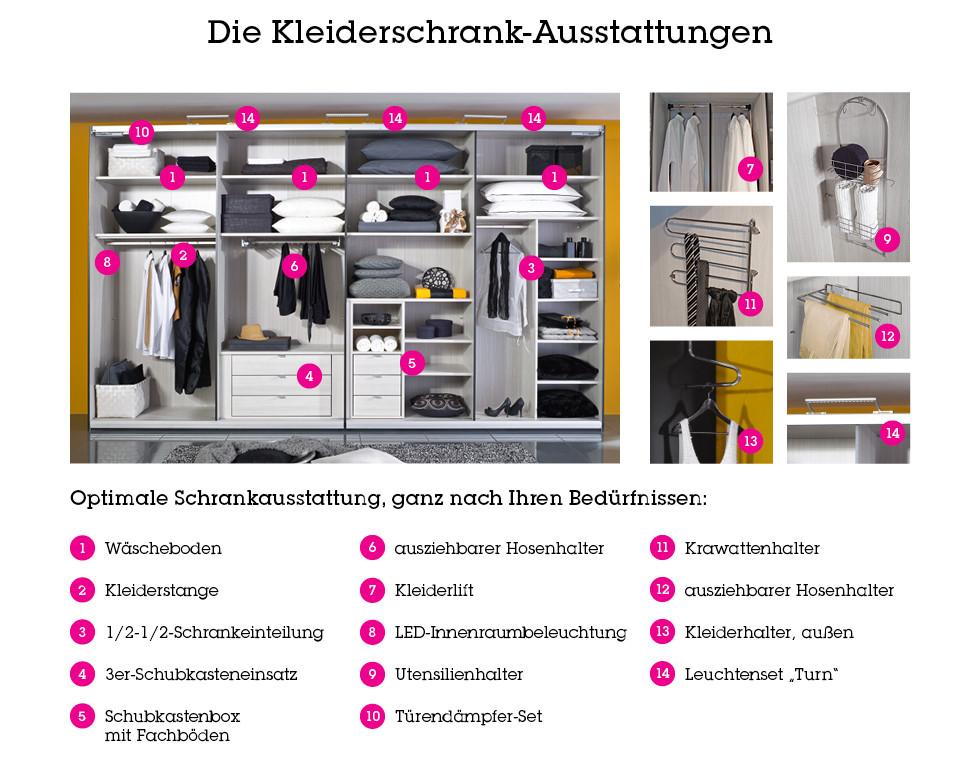 Ausstattungsmöglichkeiten für den Kleiderschrank bei mömax.