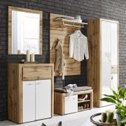 Garderobenschrank in weiß/eiche