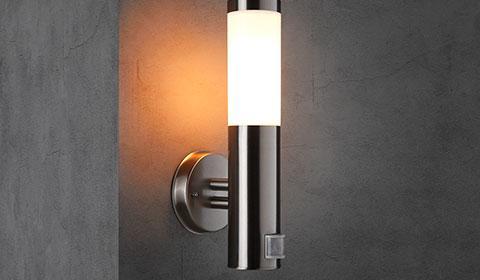 Außenleuchte mit Bewegungsmelder & Außenlampe mit