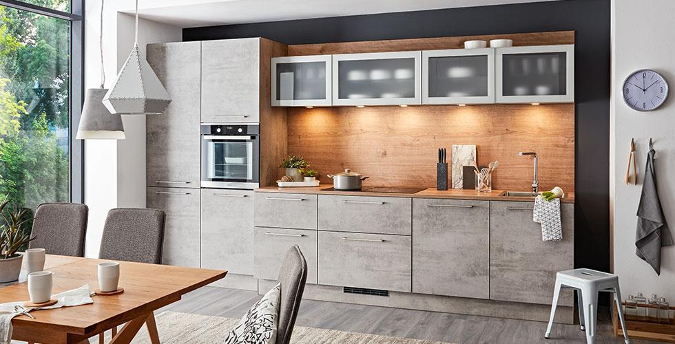 Stylischer Küchenblock in Hellgrau günstig kaufen bei mömax.