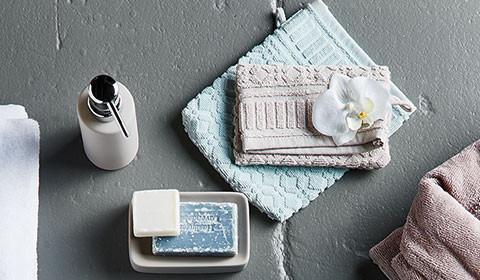Waschhandschuh in verschiedenen Farben bei mömax.