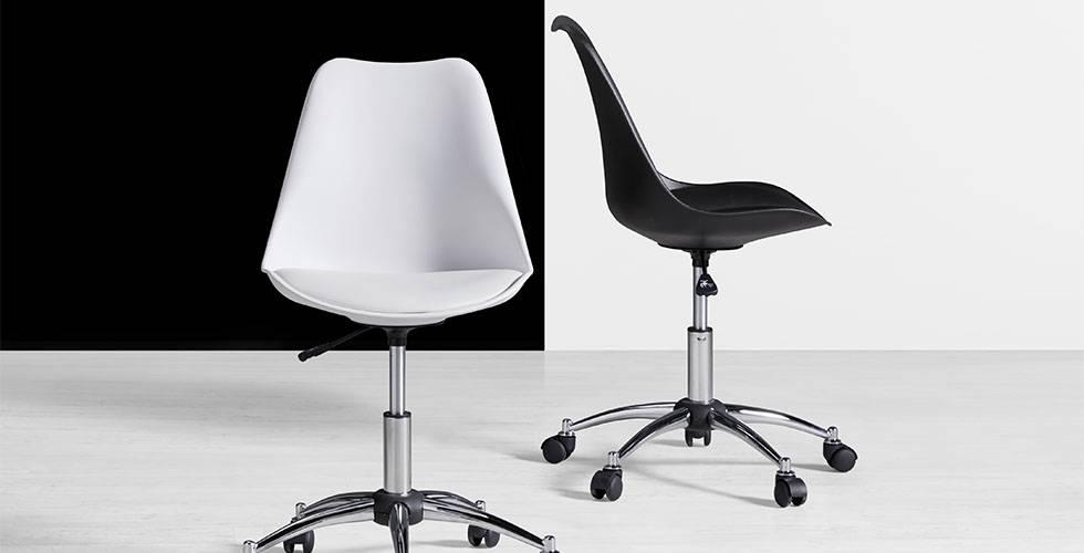 Bürostuhl in stylischen schwarz oder weiß günstig kaufen bei mömax.