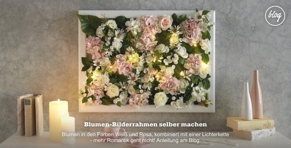 Toller Blumenbilderrahmen zum selber machen - DIY Anleitung gibt's am Blog!