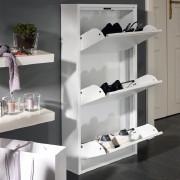 Schuhkipper in weiß mit 3 Fächern