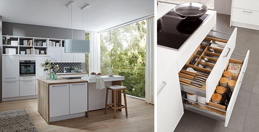 Für Stauraum in der Wohnküche: Schubladensysteme von mömax.