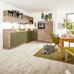 Ausstellungsküche Manhatten UNI/Timber - Nolte Küchen