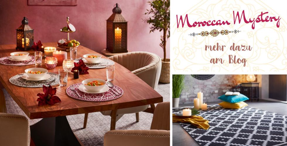 """Mehr zum orientalischen Wohnstil """"Moroccan Mystery"""" finden Sie am Blog!"""