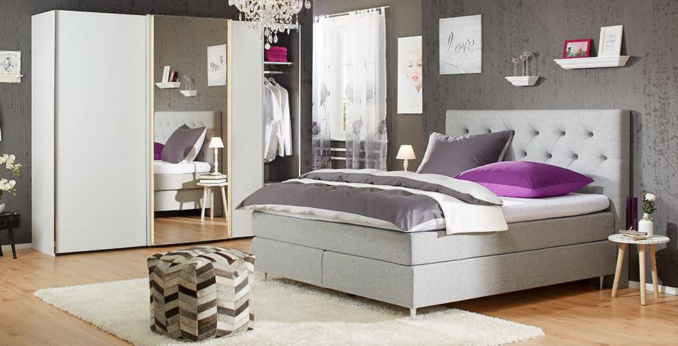 boxspringbetten entdecken m max. Black Bedroom Furniture Sets. Home Design Ideas