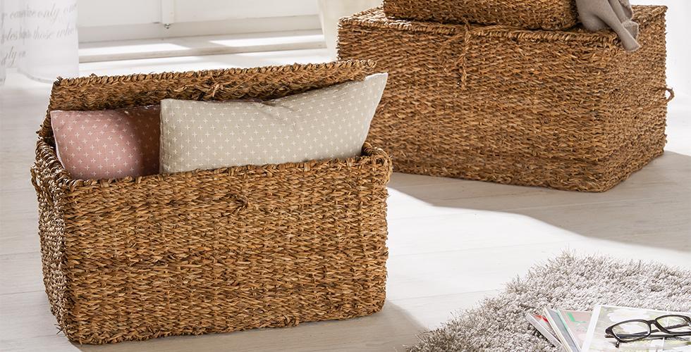 Körbe aus geflochtenen Seegras günstig online kaufen bei mömax.