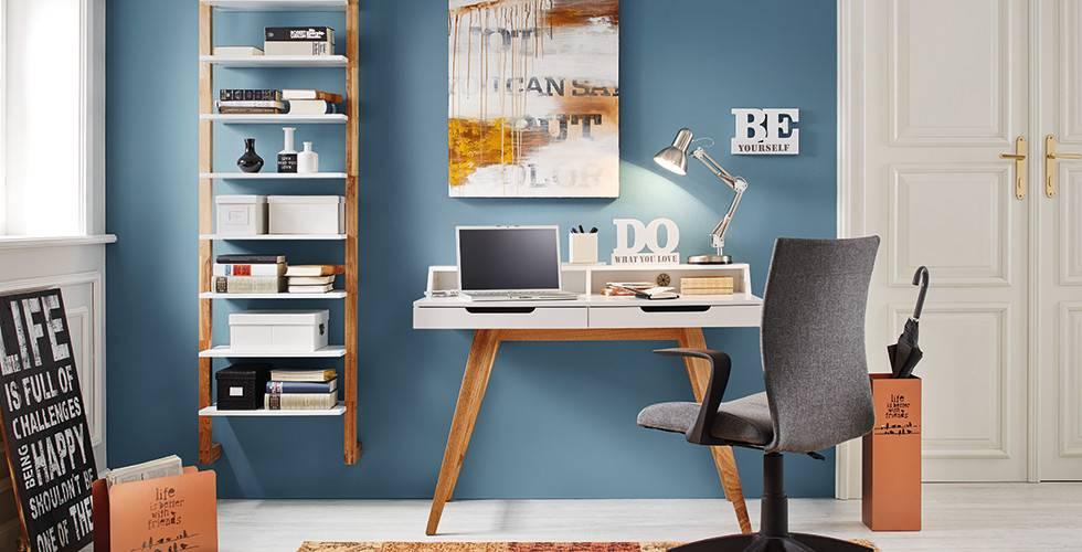 Höhenverstellbare Schreibtischlampe im Edelstahl-Look von mömax