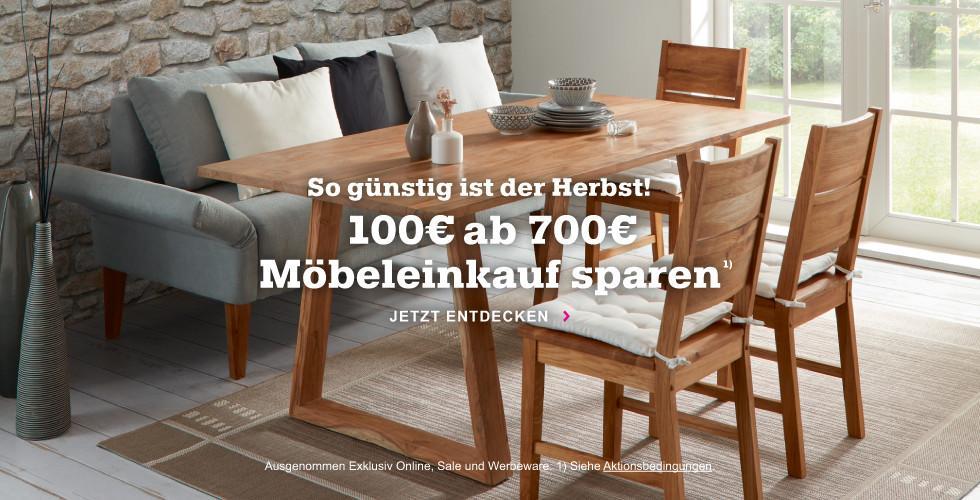 Spare bei mömax jetzt 100€ ab einem Möbeleinkauf von 700€