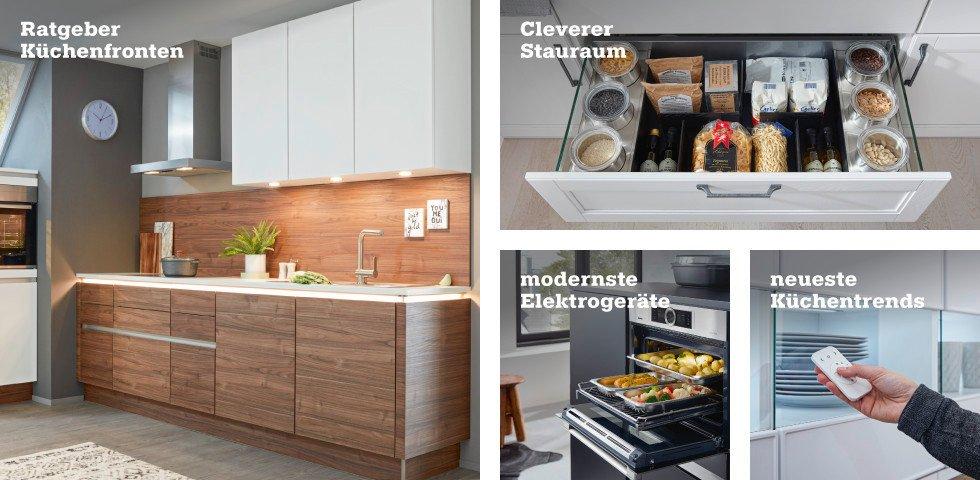 ratgeber Küchenfronten, cleverer Stauraum, mordernste Elektrogeräte, neueste Küchentrends