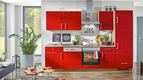 küchenblock rot