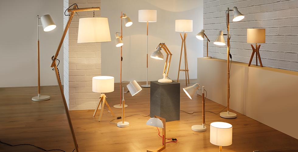 Große Auswahl aus verschiedenen Lampen von mömax.