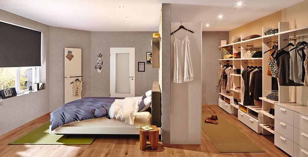 Begehbarer kleiderschrank im schlafzimmer integrieren  Schlafzimmer-Ideen zum Träumen | Schlafzimmer-Trends mömax