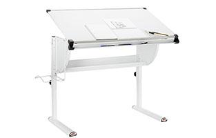 Höhenverstellbarer Schreibtisch in Weiß von mömax.
