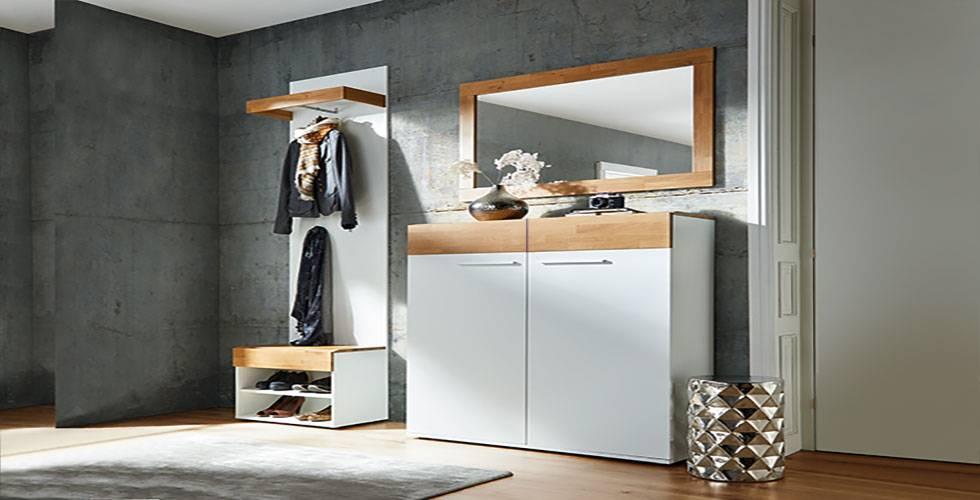 Garderobe in Weiß und Wildeiche von mömax.