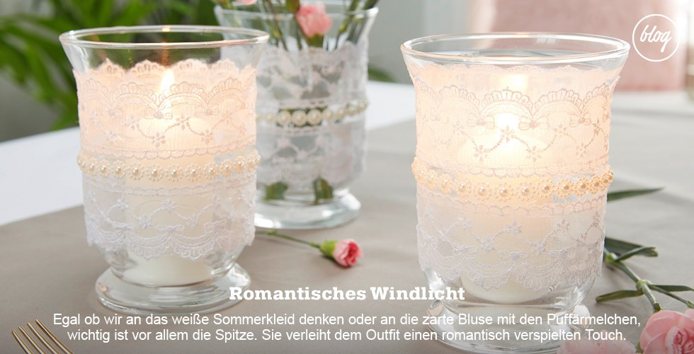 Basteln Sie romantische Windlichter - Wir zeigen Ihnen am Blog wie's gelingt!